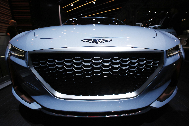 APTOPIX Auto Show Genesis