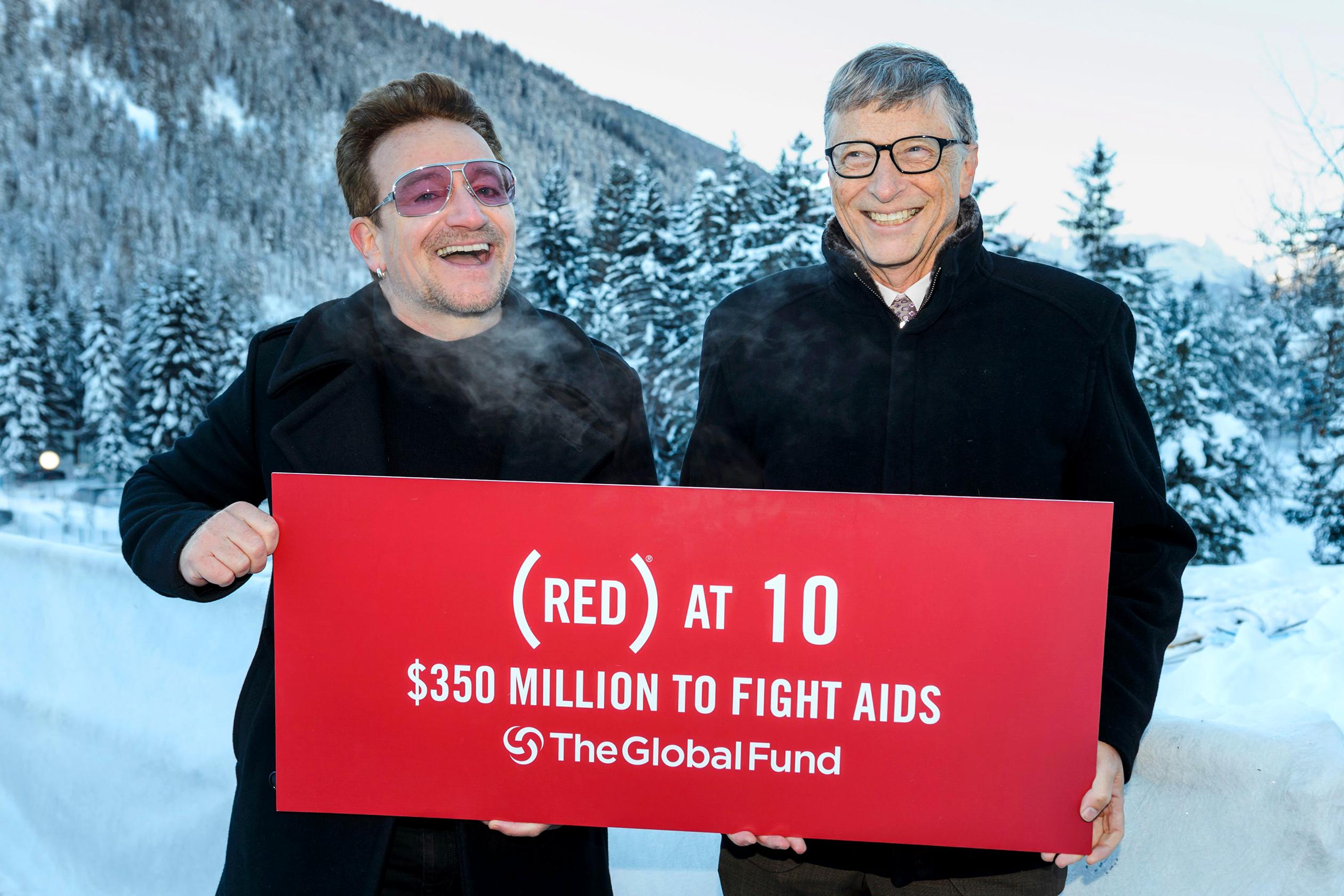 SWITZERLAND-DAVOS-ECONOMY-AIDS
