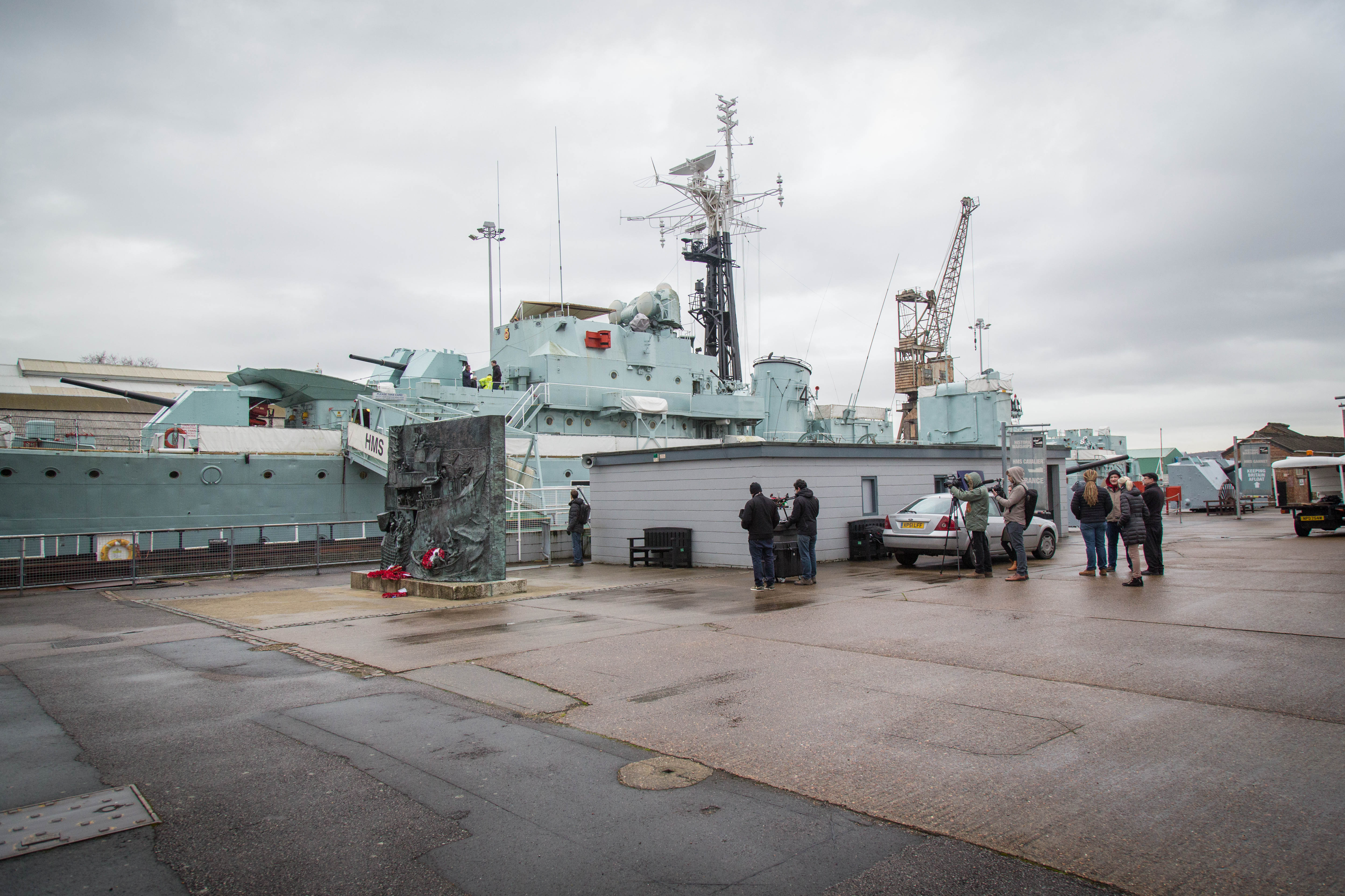 Wargaming shoots a virtual reality tour of the HMS Cavalier in Chatham, England.