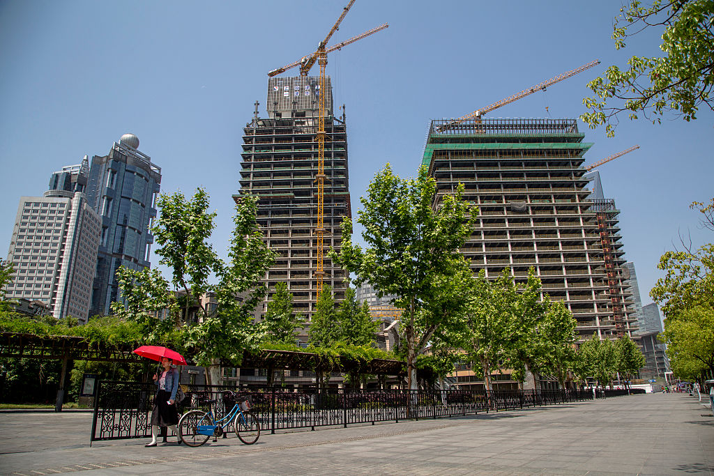 A new real estate project under construction in Pudong.  As