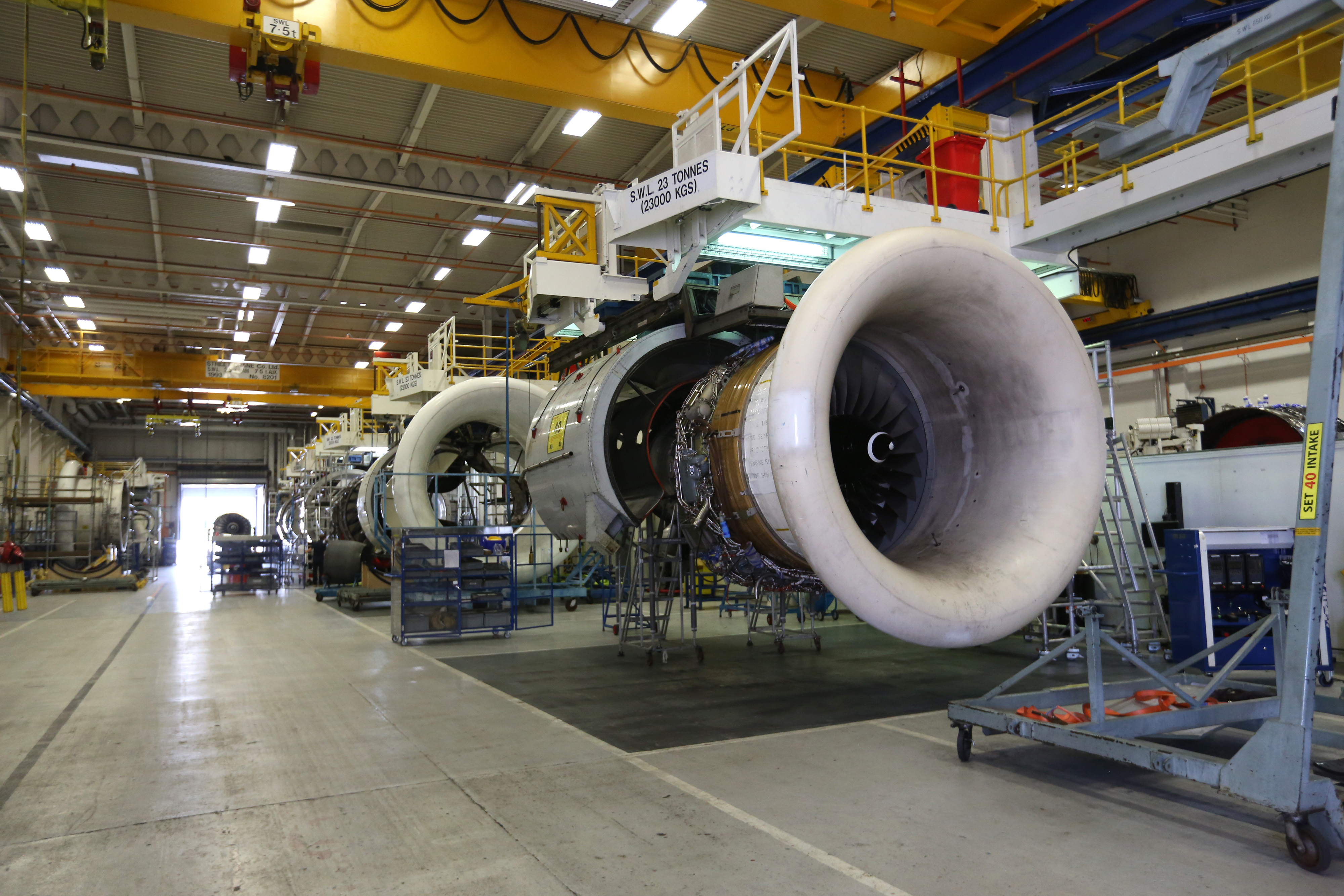Trent Engines On The Production Assembly Line At The Rolls-Royce Holdings Plc Factory
