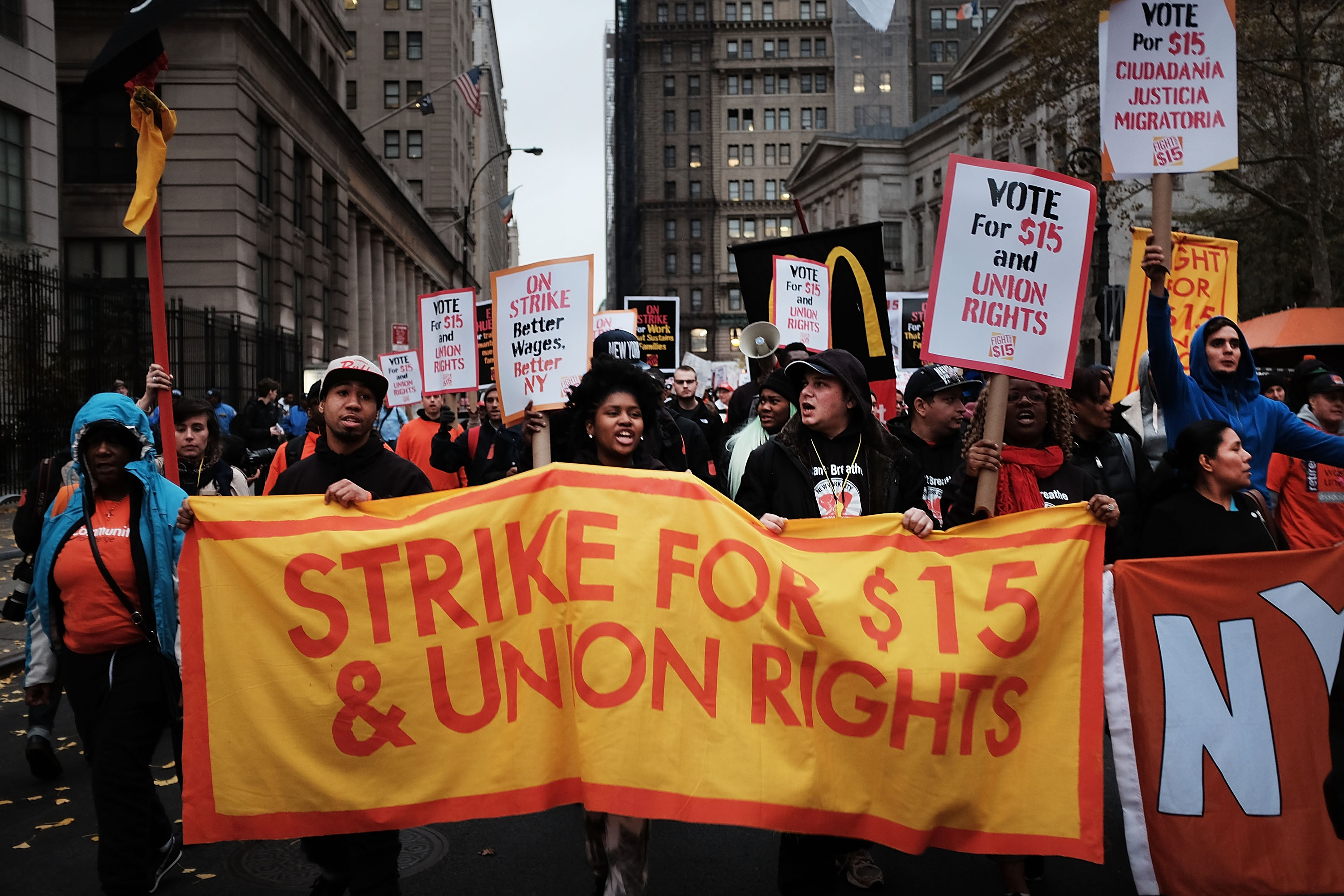 Protestors Rally Across US On National Day Of Action For $15 Minimum Wage