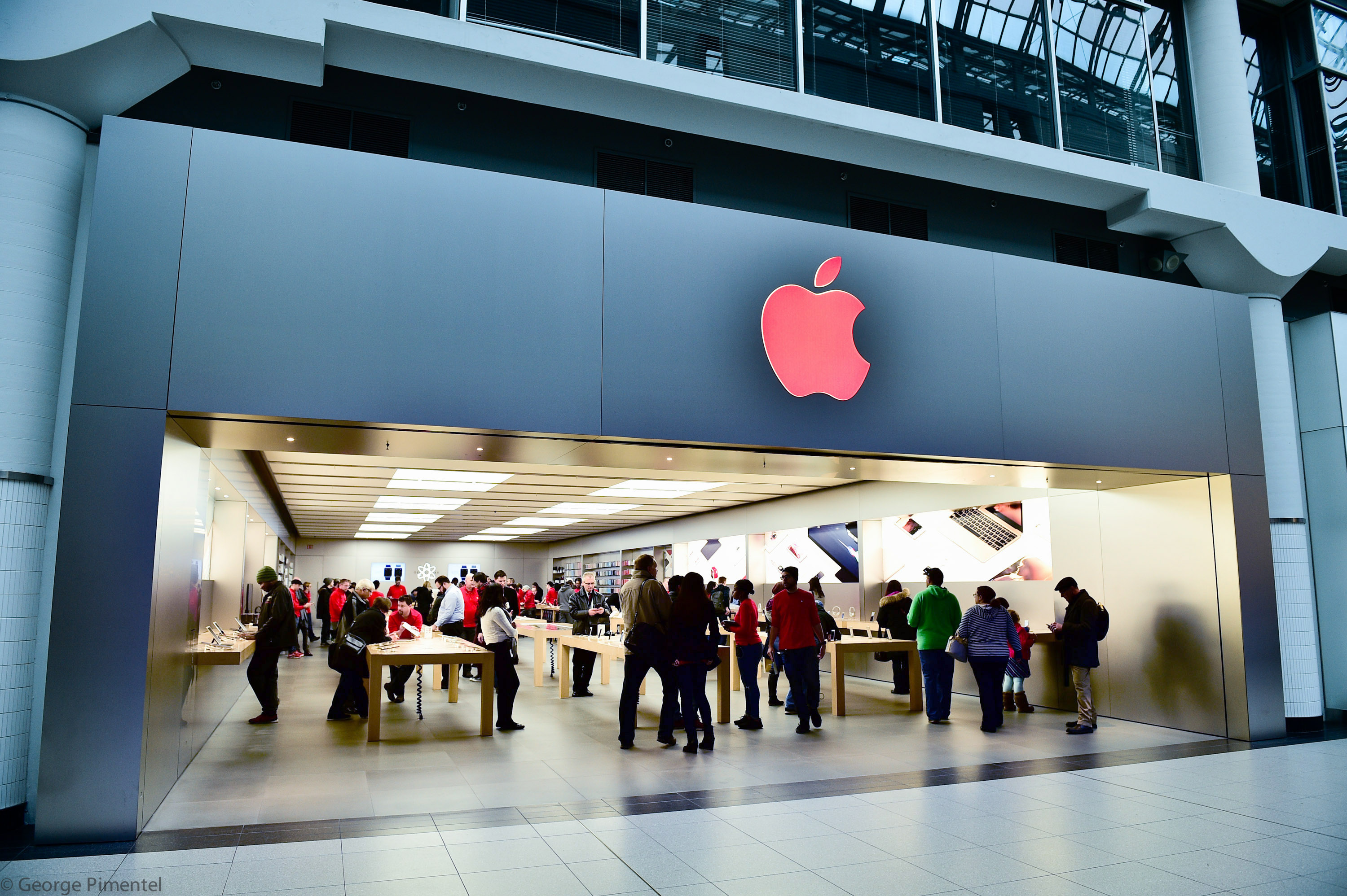 The Apple Store at Eaton Centre Shopping Centre on December 1, 2015 in Toronto, Canada.