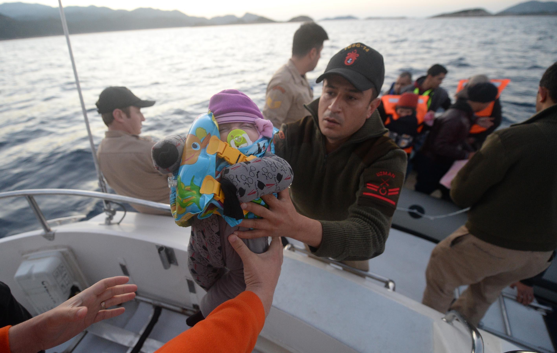 Turkey Rescues 174 refugees in Turkey's Antalya