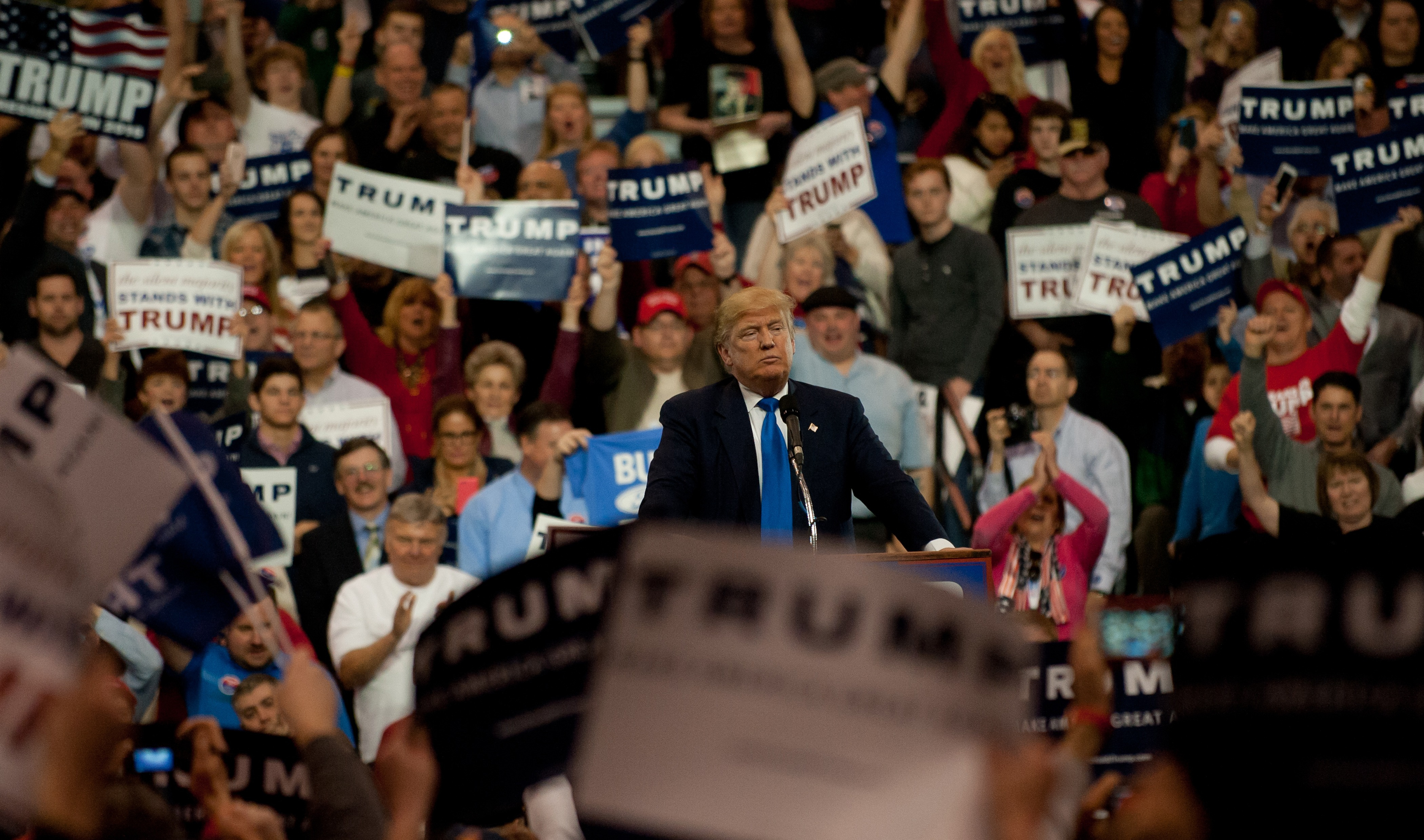 GOP Candidate Presidential Donald Trump Holds Rally In Cleveland