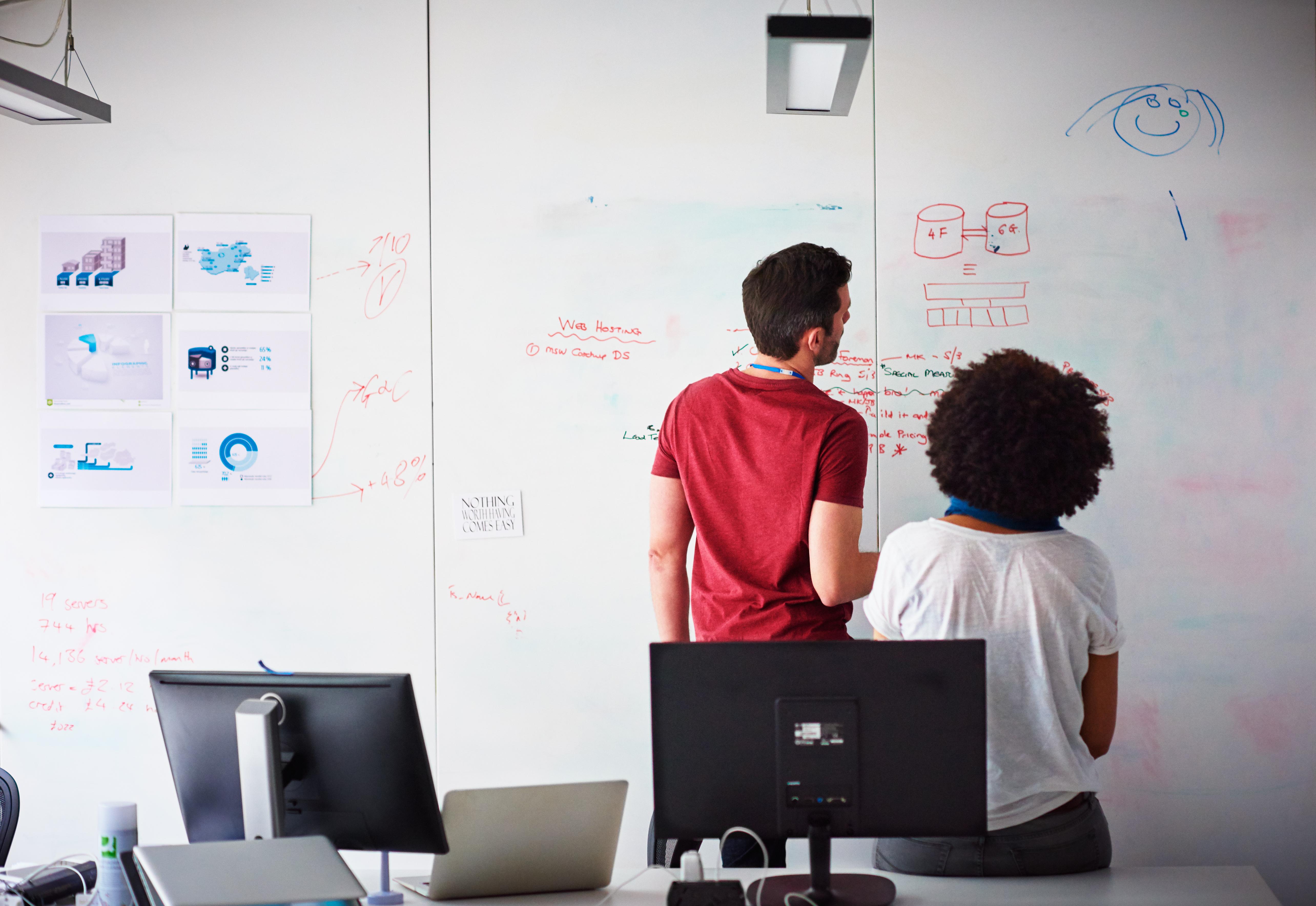 Tech Coworkers Brainstorming