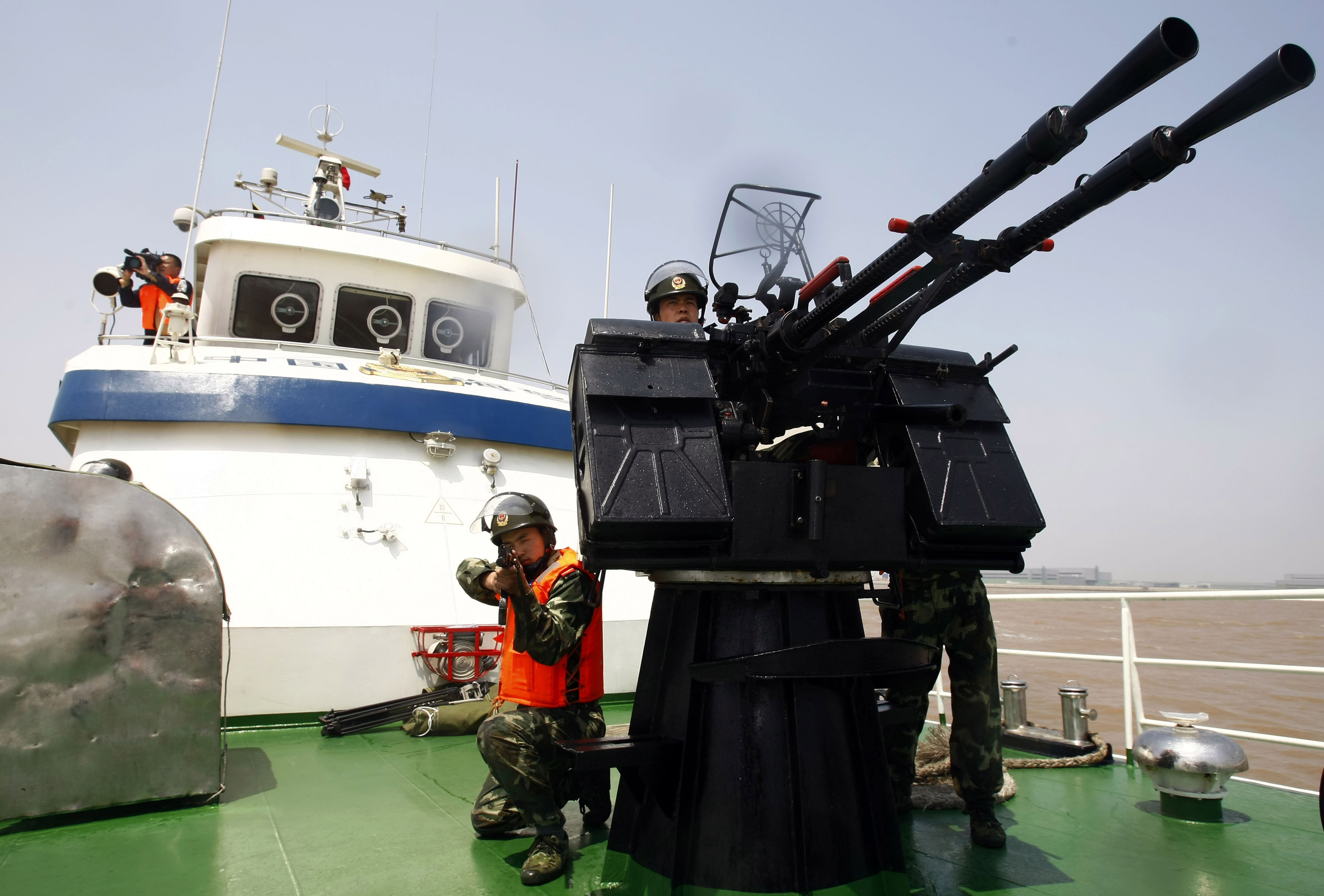 Security Drills Held In Preperation For Shanghai Expo