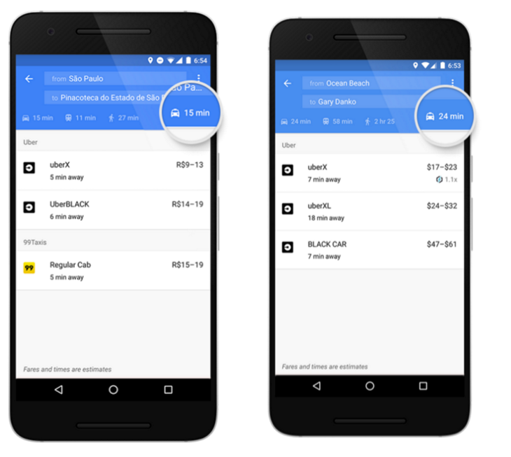 Google Maps has added a dedicated ride-sharing tab to the navigation app.