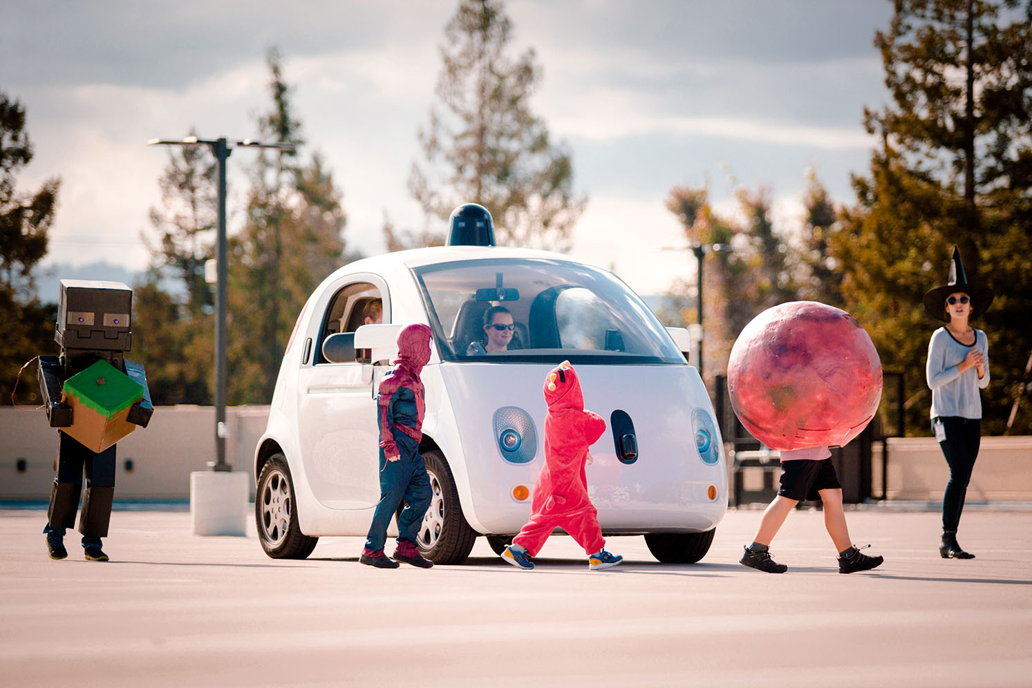 Google's self-driving car project has a history of focusing on safety around kids. In October, the company taught its cars to be careful around children even when they're dressed in costumes.