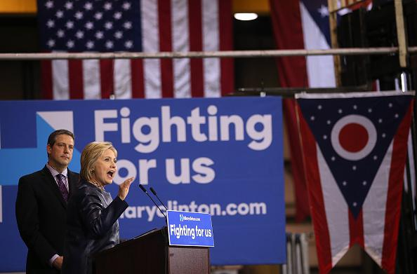 Hillary Clinton Campaigns In Midwest Ahead Of Ohio's Primary