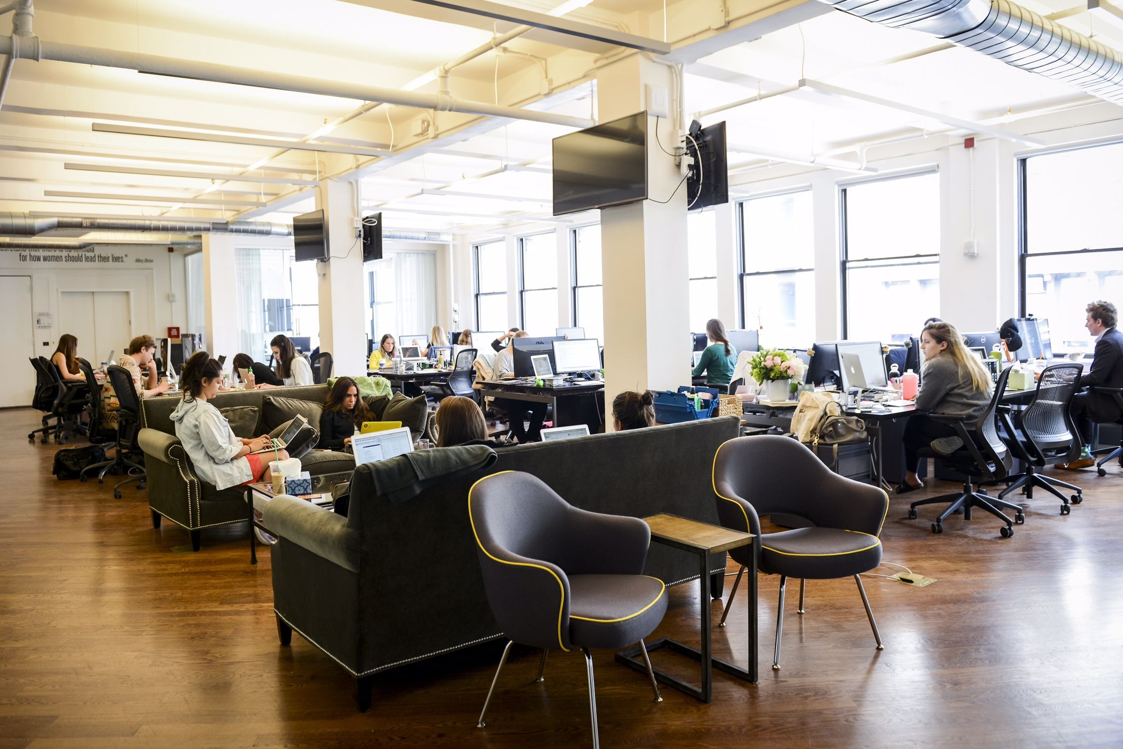 The New York City headquarters of Bustle.