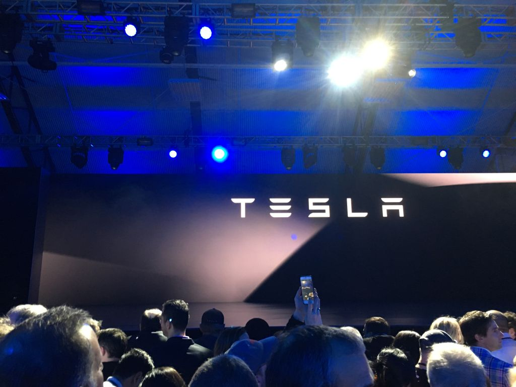 Stage at Tesla's event
