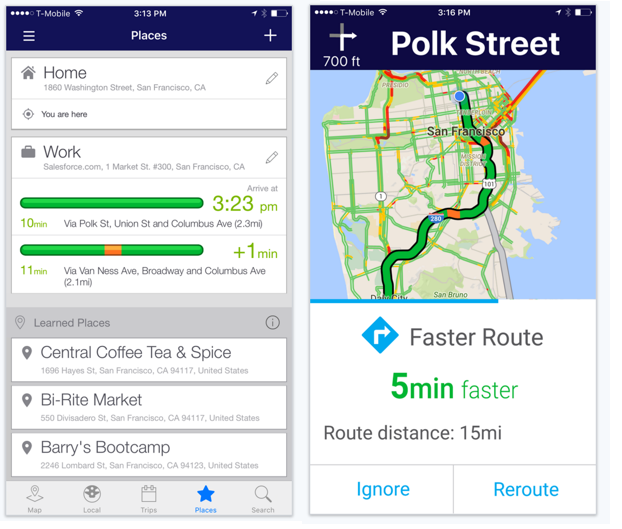 Inrix released an updated version of its traffic app on March 30, 2016.