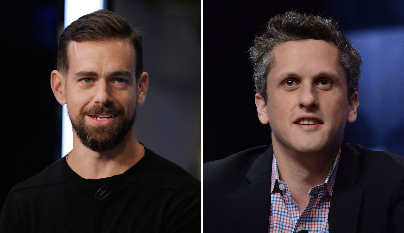 Jack Dorsey Aaron Levie 2015 Split