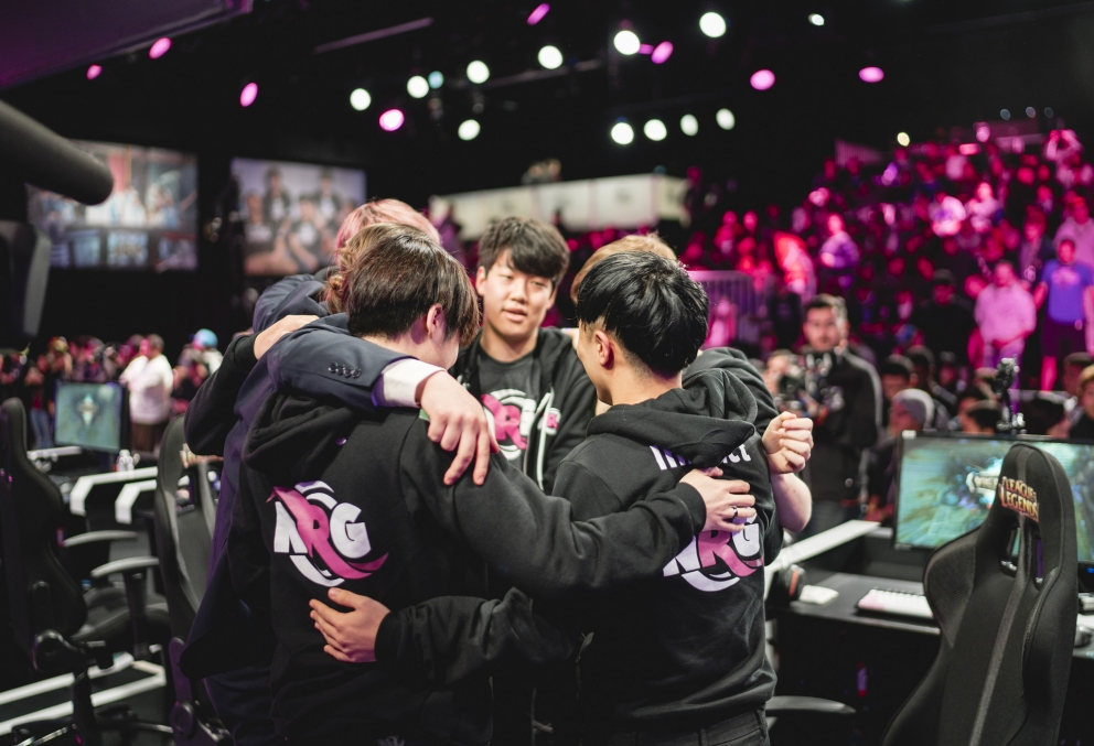 NRG ESports owns a League of Legends team, shown here competing in Riot Games' popular PC game.