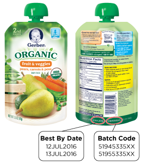Gerber's Organic 2nd Food Pouches.