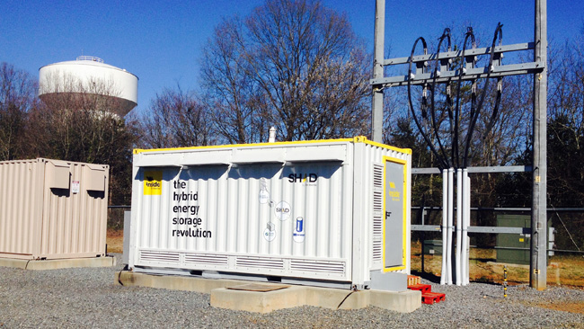 An unusual hybrid battery used by Duke Energy in North Carolina.