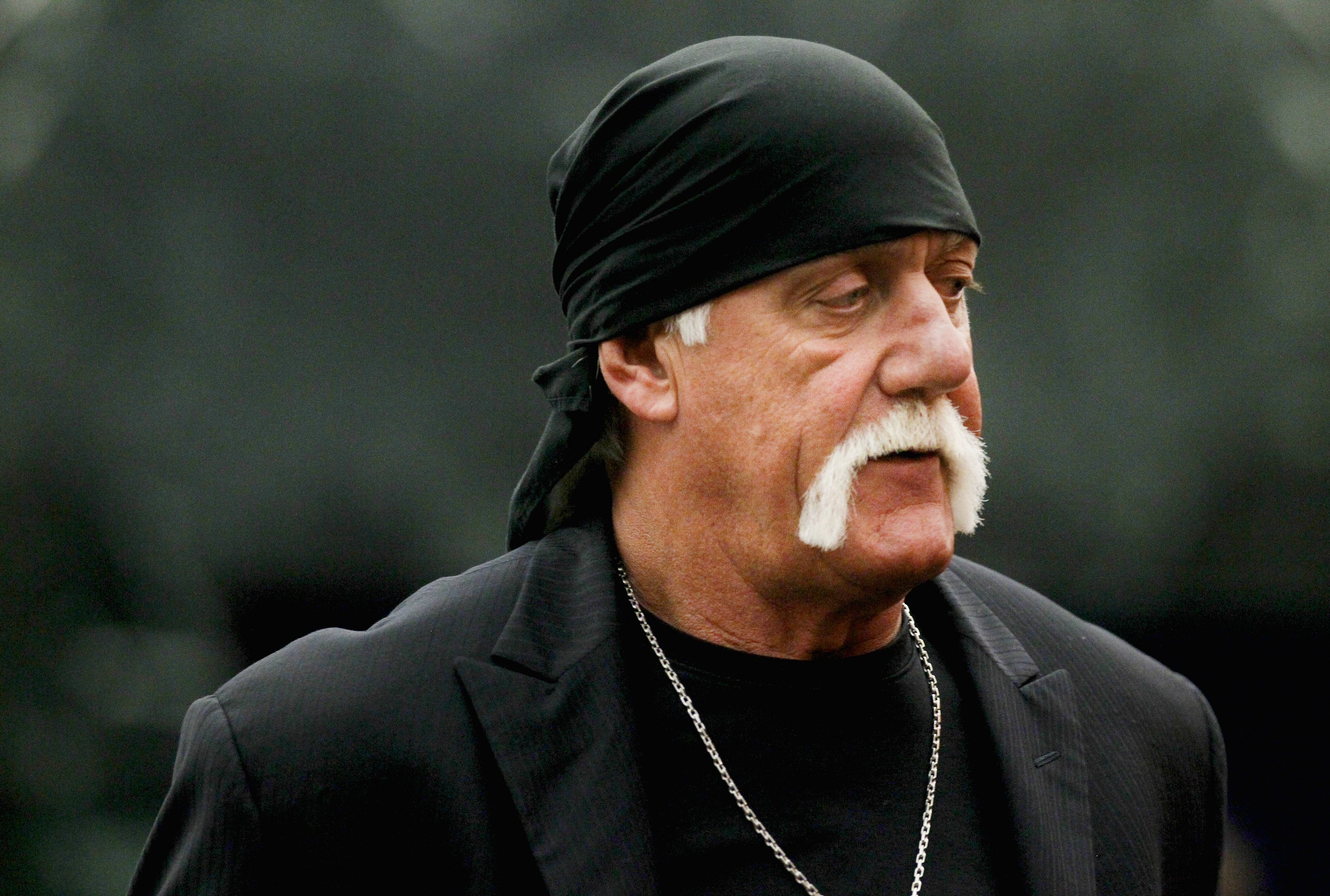 Terry Bollea, aka Hulk Hogan, arrives for his trial against Gawker Media, in St Petersburg, Florida