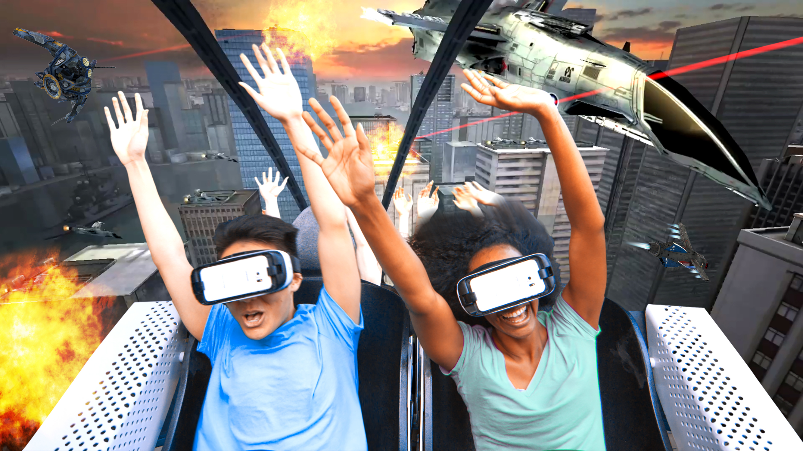 Six Flags is debuting virtual reality roller coasters across its theme parks using Samsung Gear VR mobile headsets.