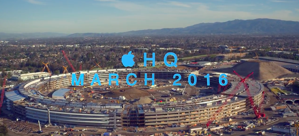 Apple Campus 2: March Drone Flyover   Fortune