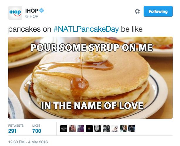 Making pancakes into a meme.