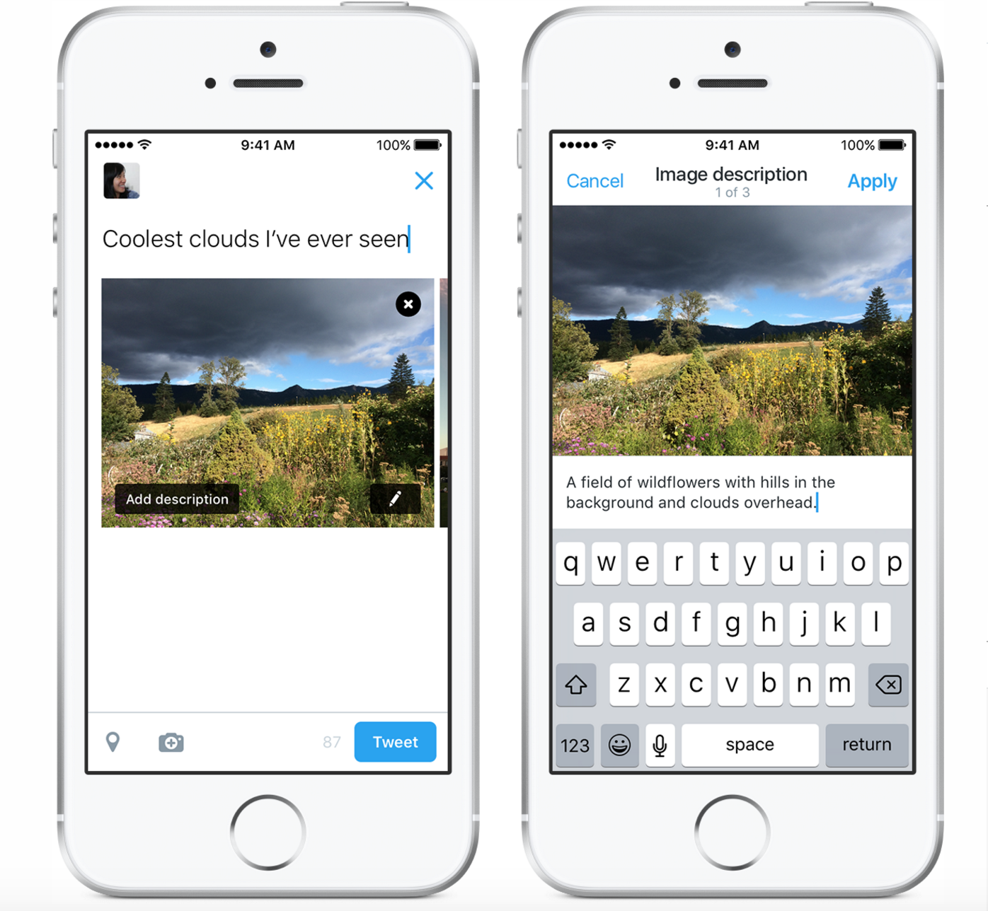 Twitter released a new feature on Tuesday designed to help blind people 'see' more photos.