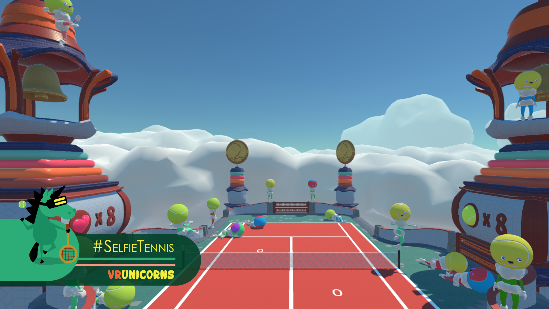 Developer VR Unicorns offers a tennis game for HTC Vive that you play against yourself.
