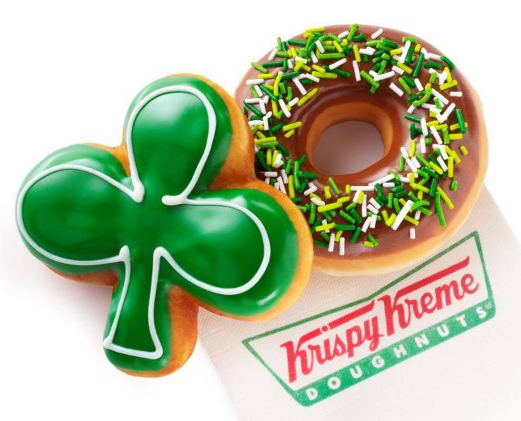Krispy Kreme's St. Patrick's Day doughnuts.