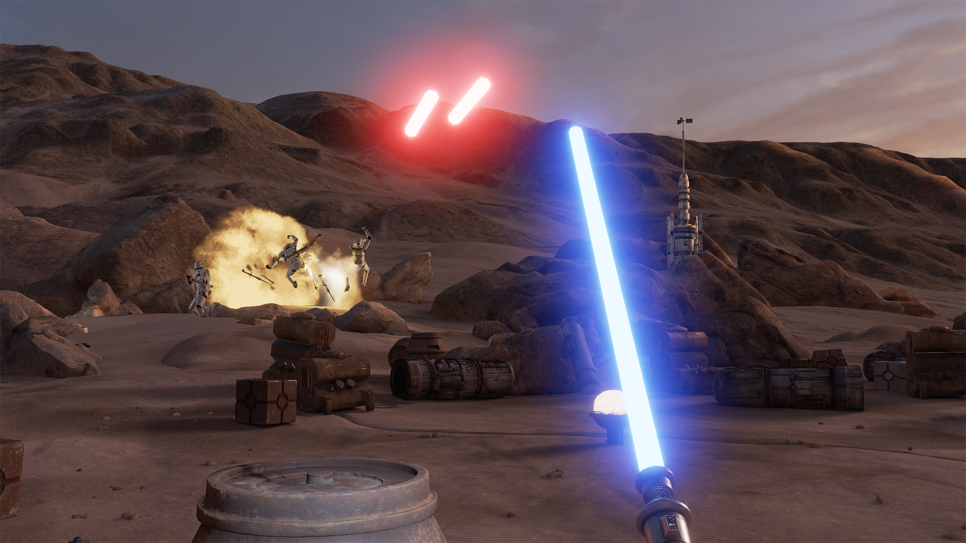 Star Wars Trials on Tatooine is an HTC Vive virtual reality experience developed by ILMxLab.