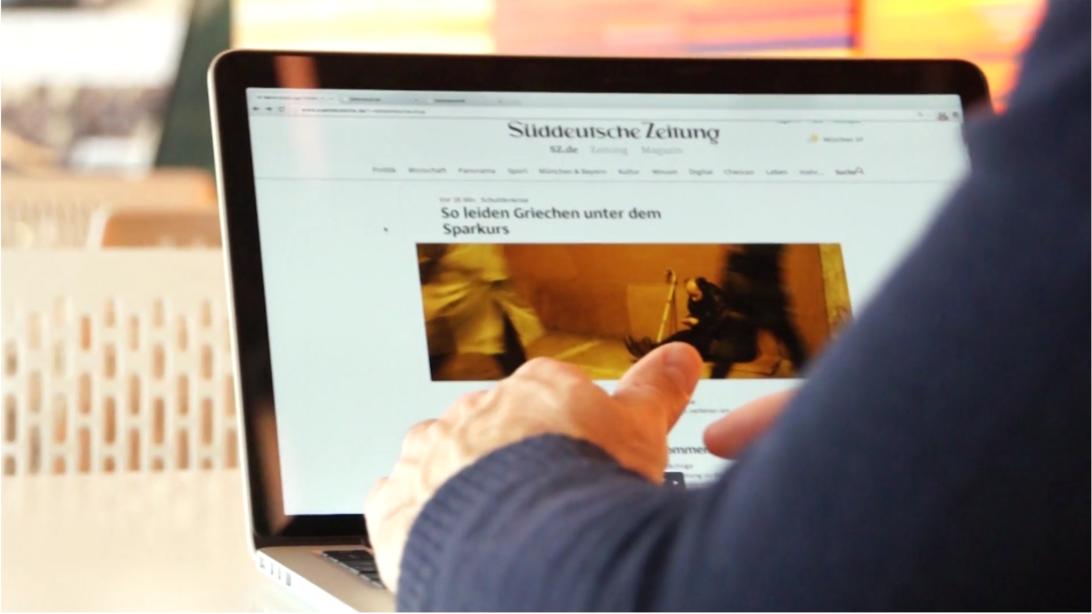 Süddeutsche Zeitung website