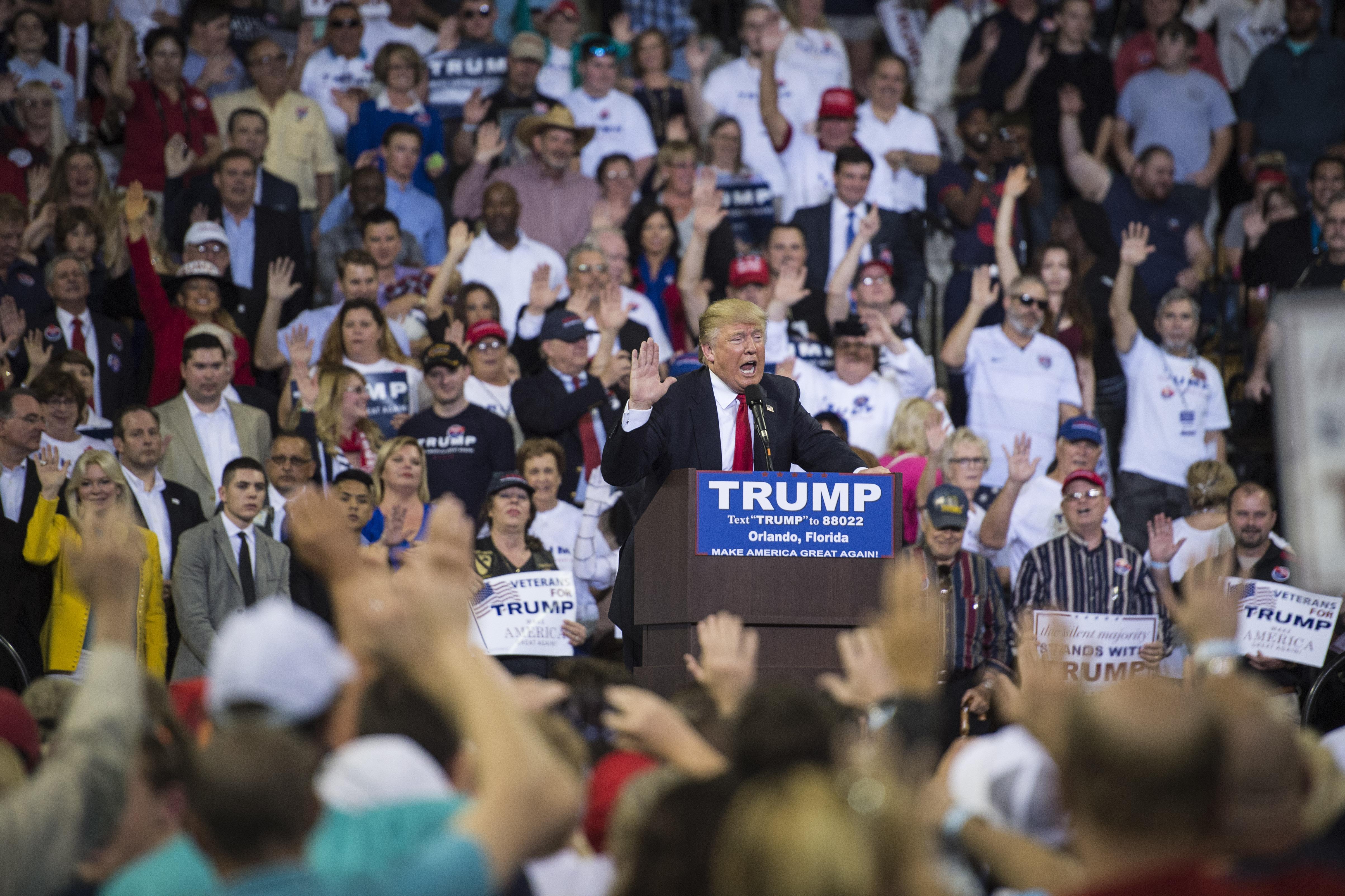Donald Trump in Orlando, Florida.