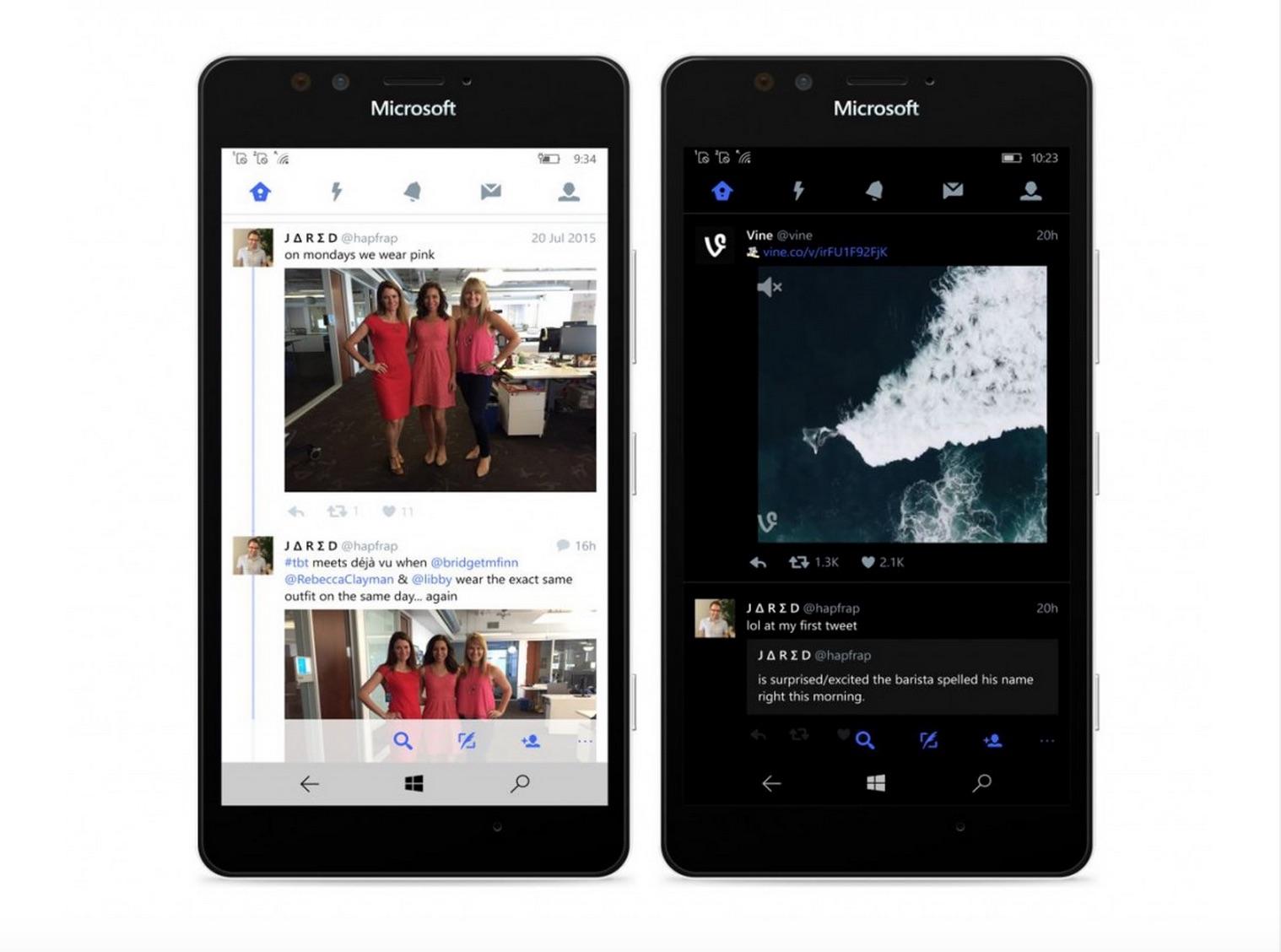 Twitter App on WIndows 10 Mobile