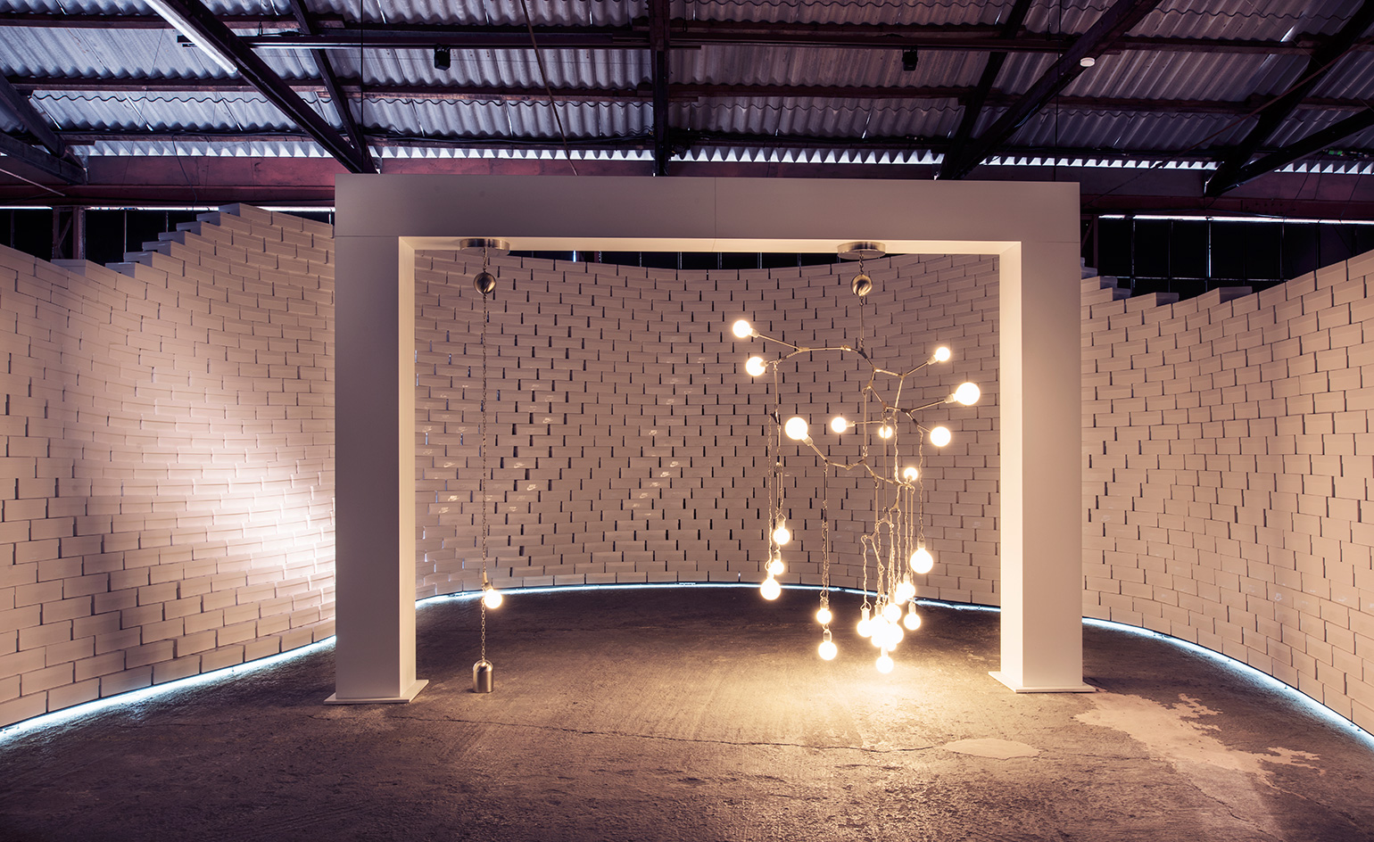 Lindsey Adelman's commission, a light installation inspired by the 'Natural Motion' of plants