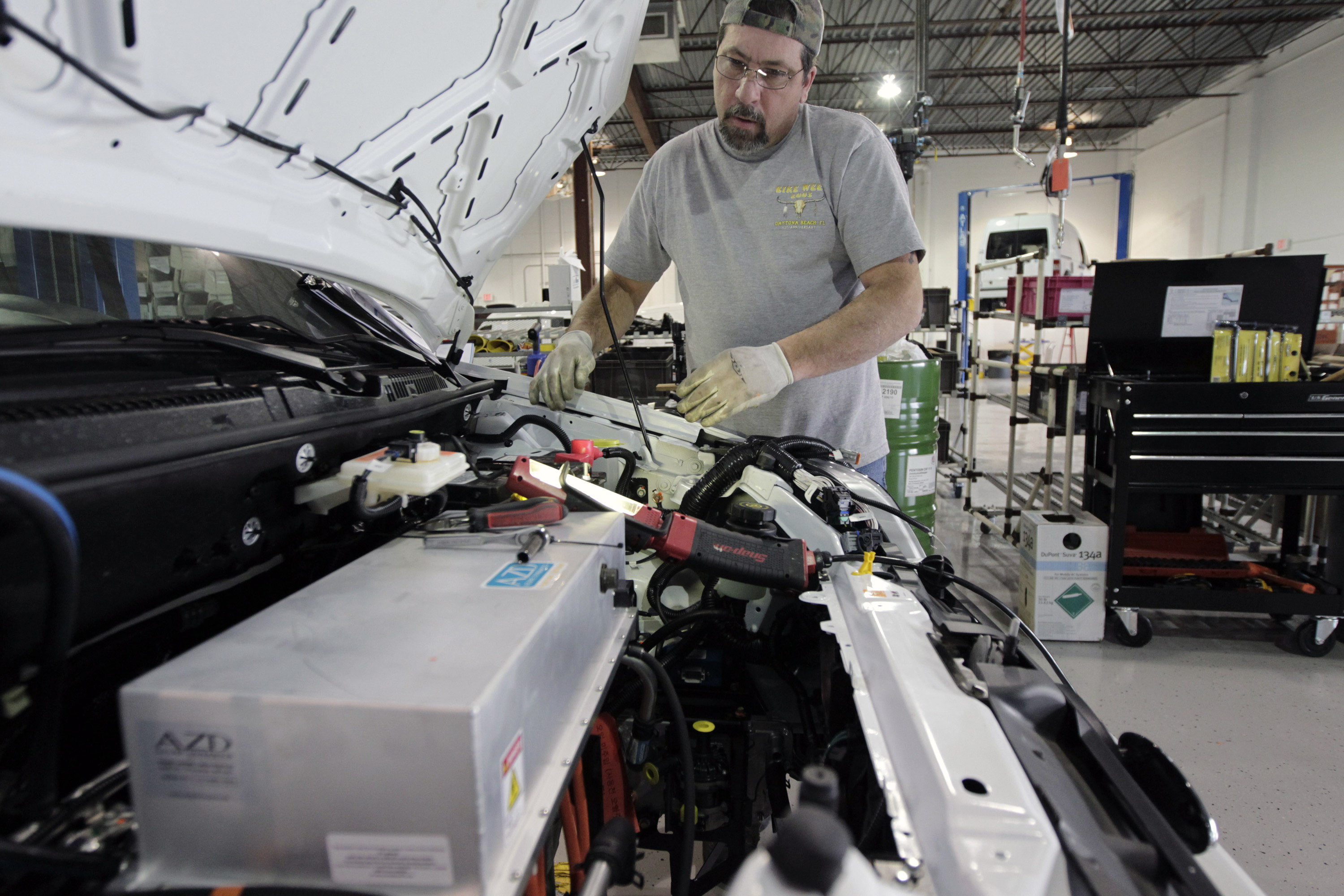 Ford Transit Connect Electric Van Assembly At AM General Factory
