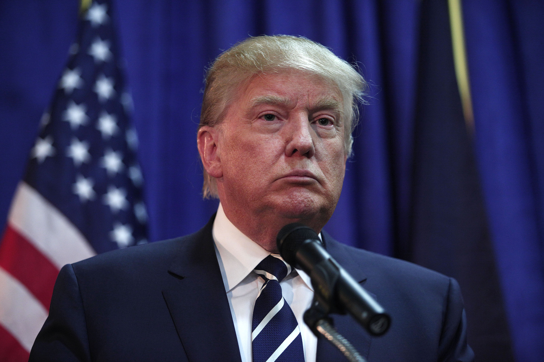 Donald Trump Addresses GOP Lincoln Day Event In Michigan