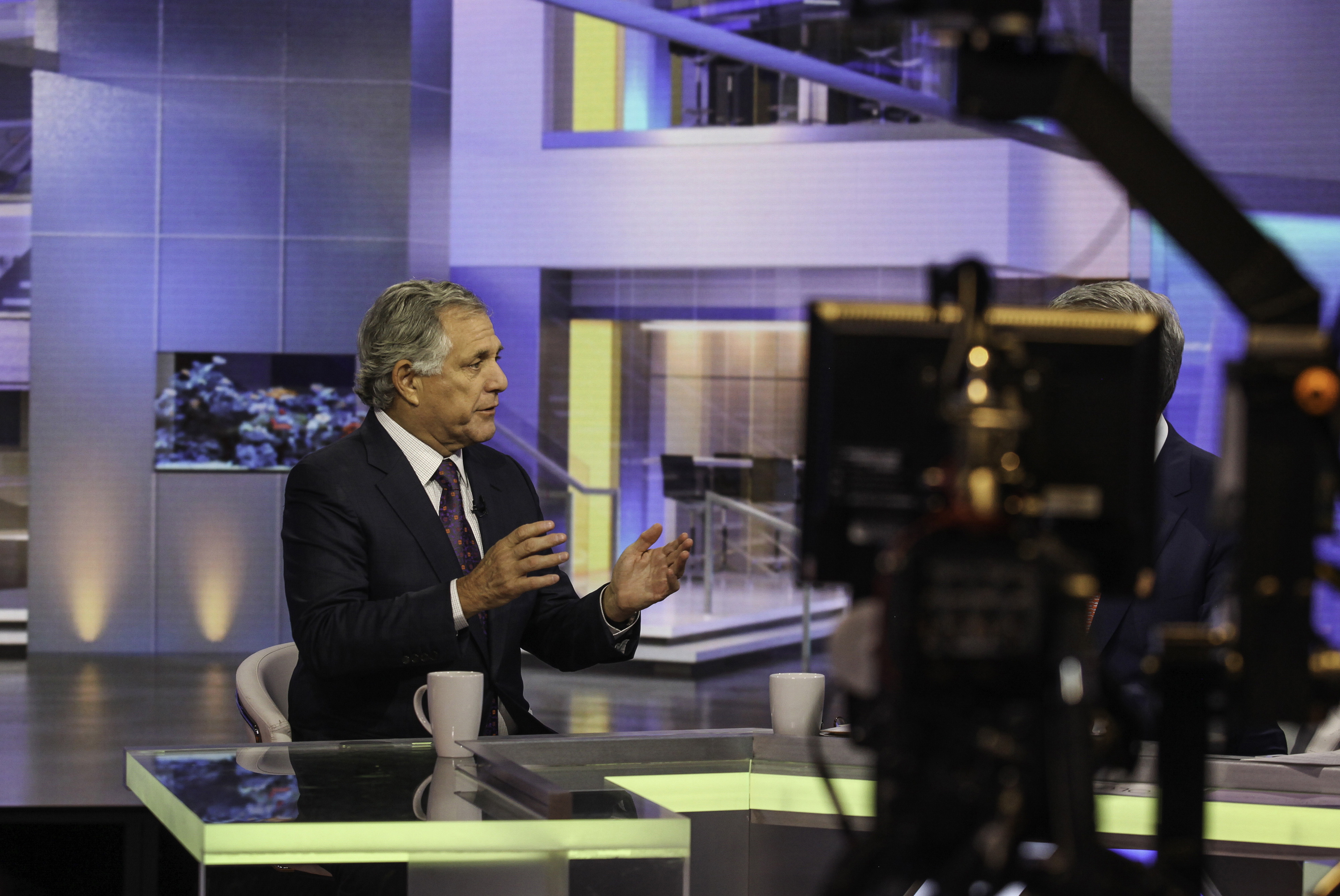 Leslie Roy Moonves, President and Chief Executive Officer of CBS Corporation, speaks during a Bloomberg television interview in New York, U.S., on Wednesday, October. 14, 2015