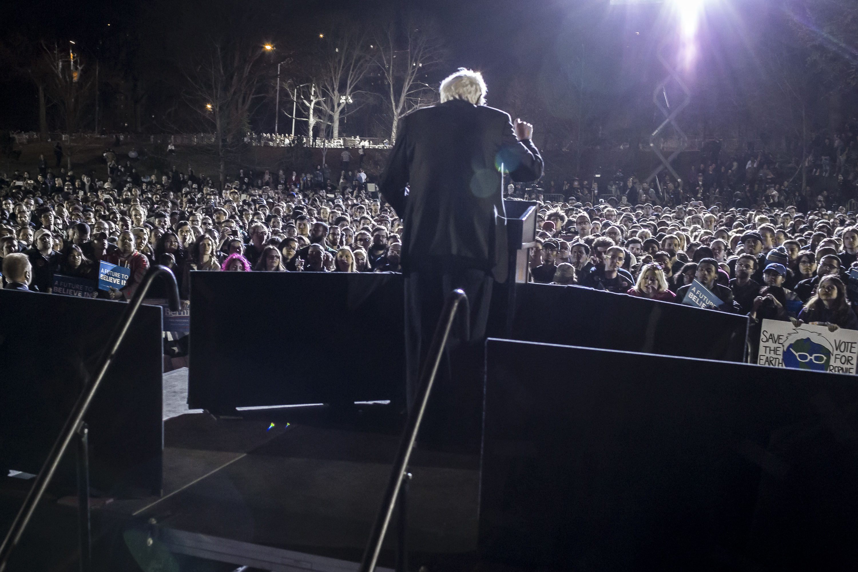 Senator Bernie Sanders comes back home to his roots in NYC,
