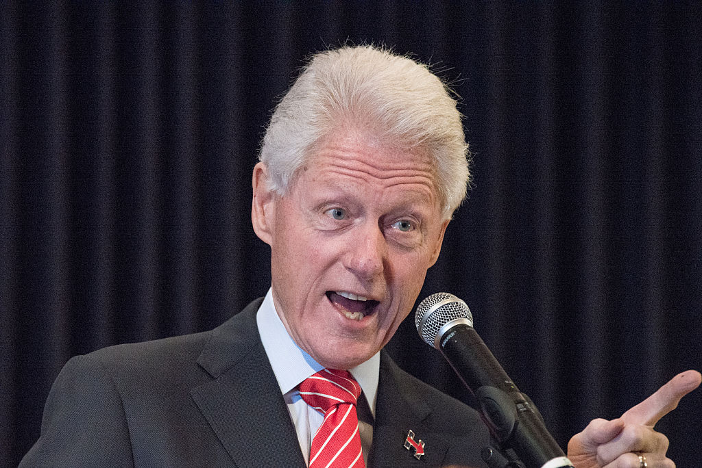 Bill Clinton campaigns for Hillary in New York City. In