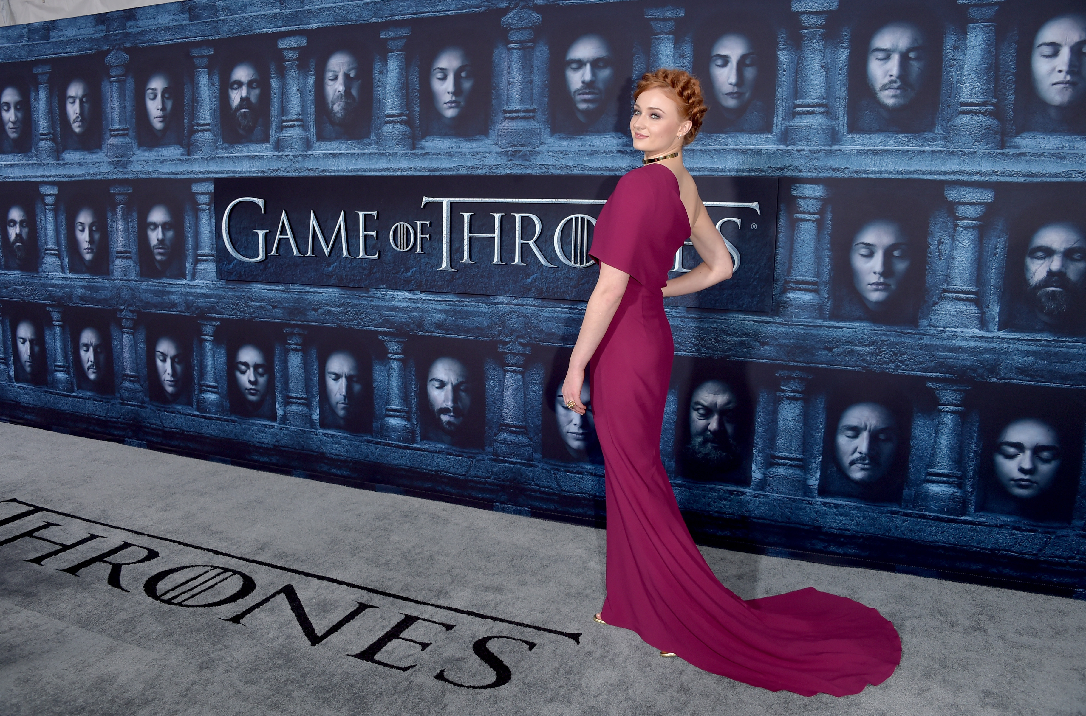 "attends the premiere of HBO's ""Game Of Thrones"" Season 6 at TCL Chinese Theatre on April 10, 2016 in Hollywood, California."