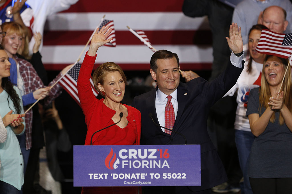 Presidential Candidate Ted Cruz Names Carly Fiorina As Running Mate At Campaign Rally