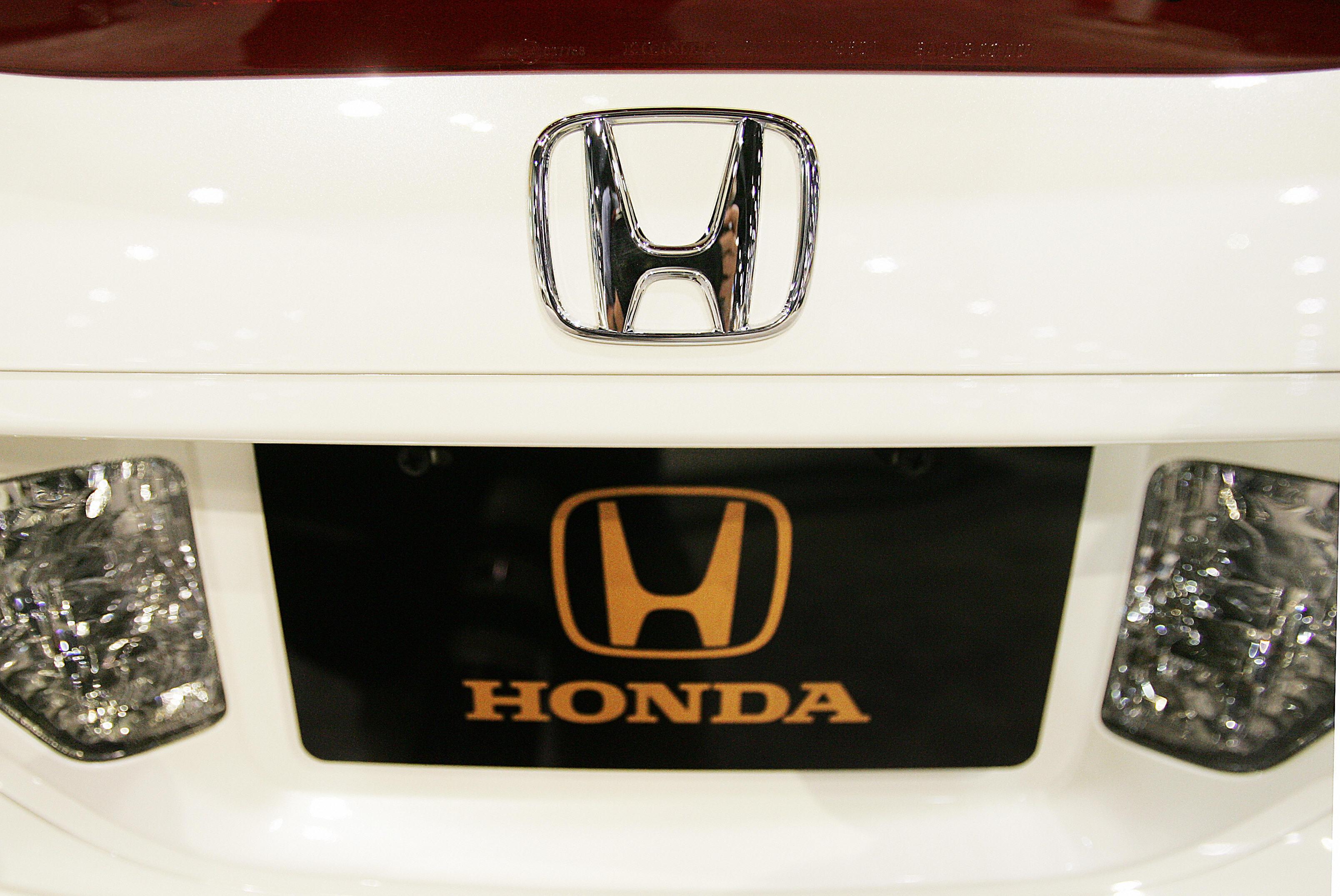 The Honda Motor Company logo can be seen