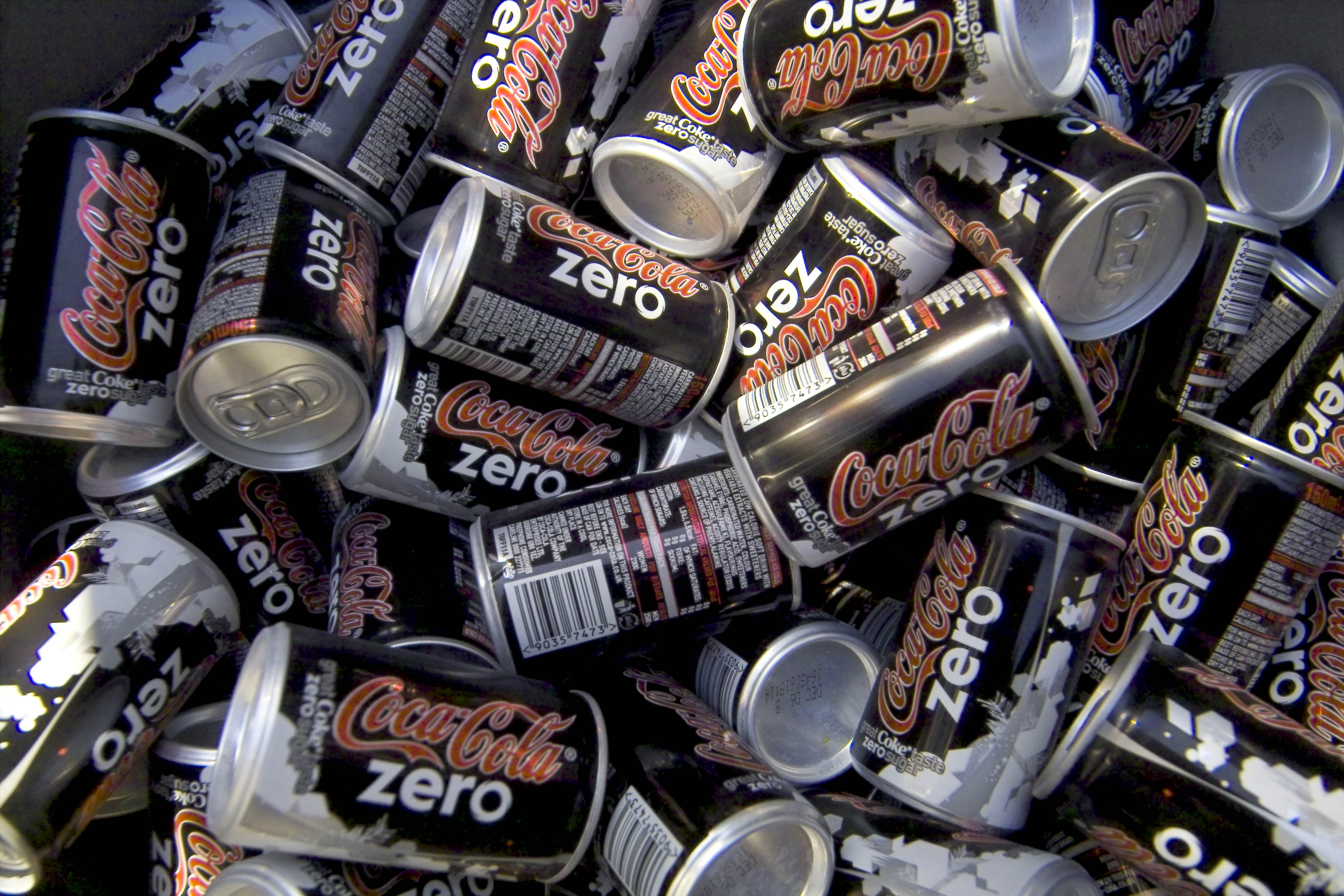 Cans of Coca-Cola's new 'Zero' product are seen in a cooler