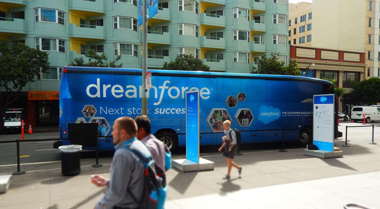 A Bauer's Intelligent Transportation bus in San Francisco