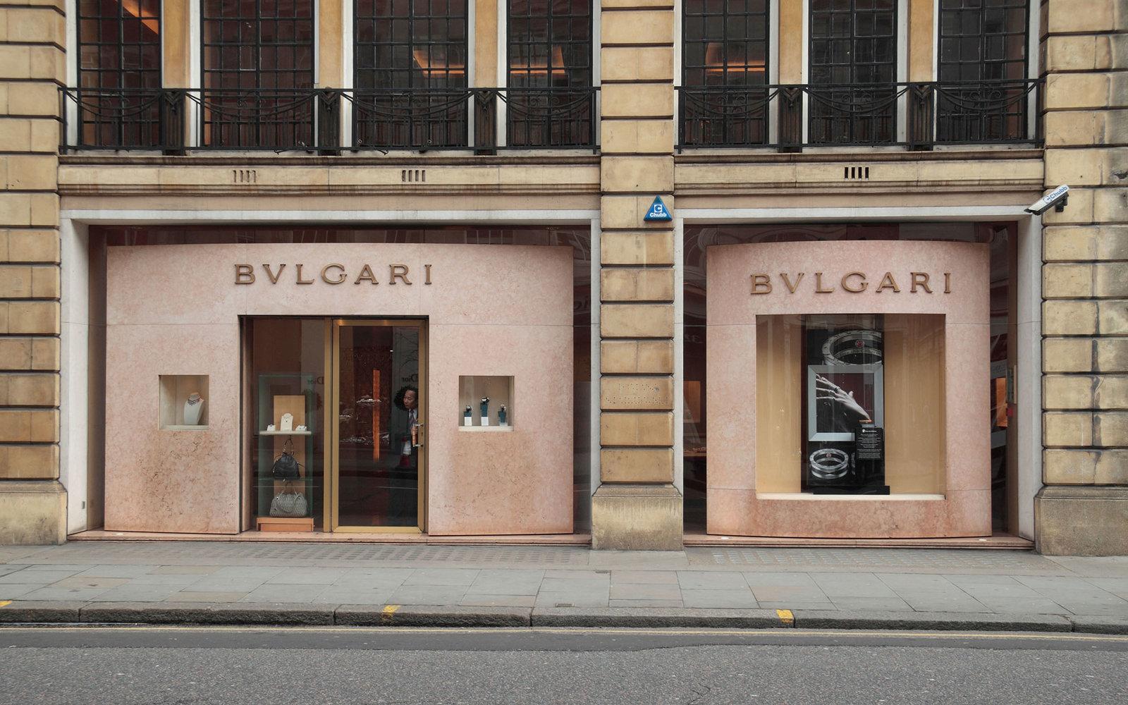 The Bulgari jewellry store on Sloane Street, London, SW1, England.