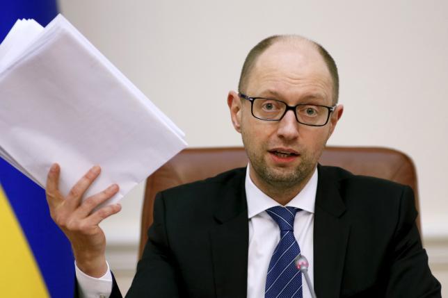 Ukraine's PM Yatseniuk attends government meeting in Kiev