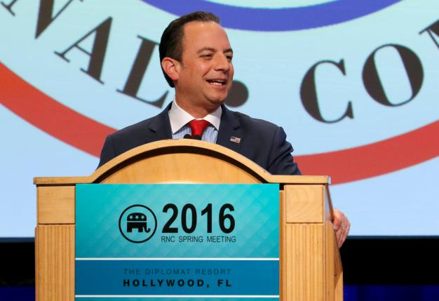 File photo of Republican National Committee Chairman Reince Priebus at a general session at the Republican National Committee Spring Meeting at the Diplomat Resort in Hollywood