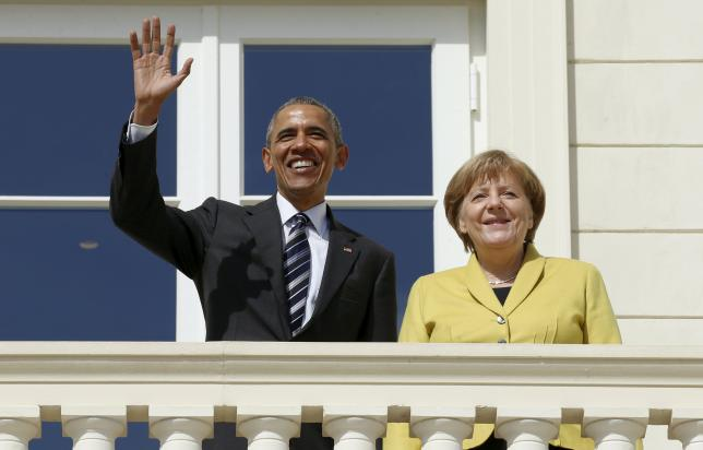 President Obama meets with Chancellor Merkel in Hanover, Germany