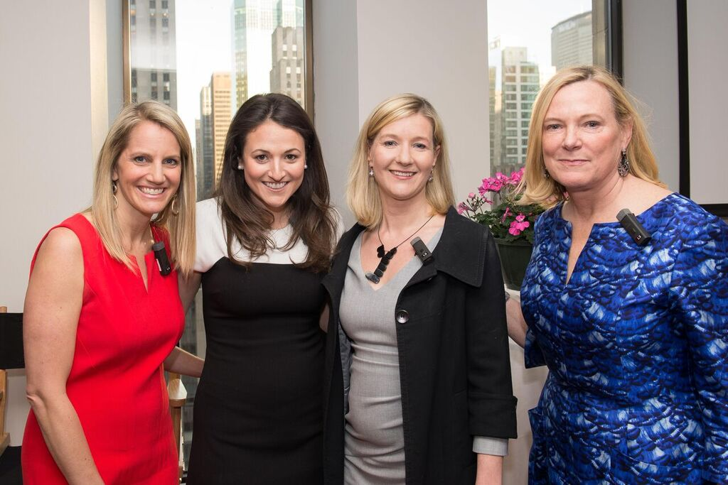 Andrea Turner Moffitt (Plum Alley Investments), Jennifer Mellon (CEO, Trustify) Mia Lewin (CEO, Kontor) and Deborah Jackson (Plum Alley Investments)