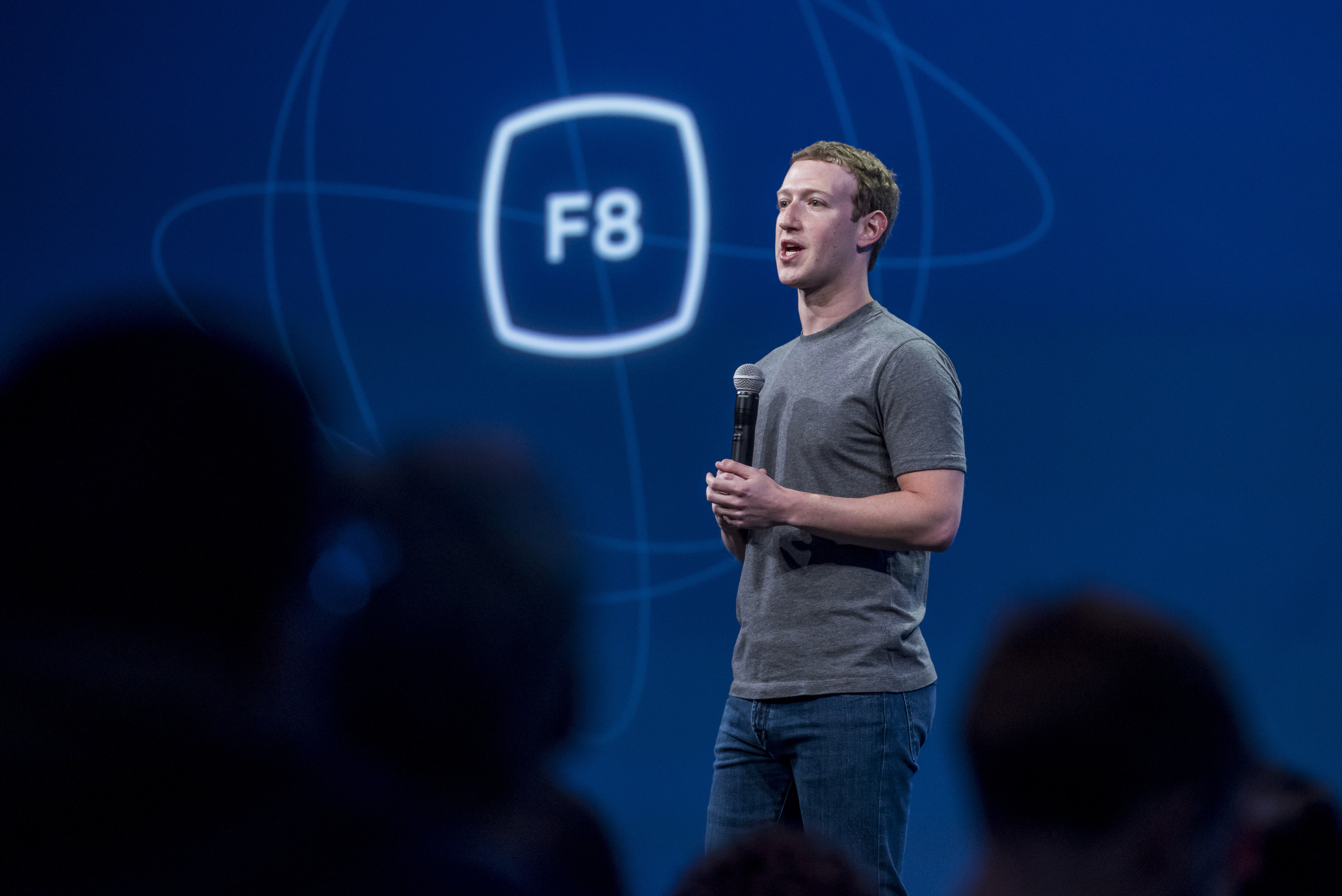 Facebook CEO Mark Zuckerberg at Facebook's F8.
