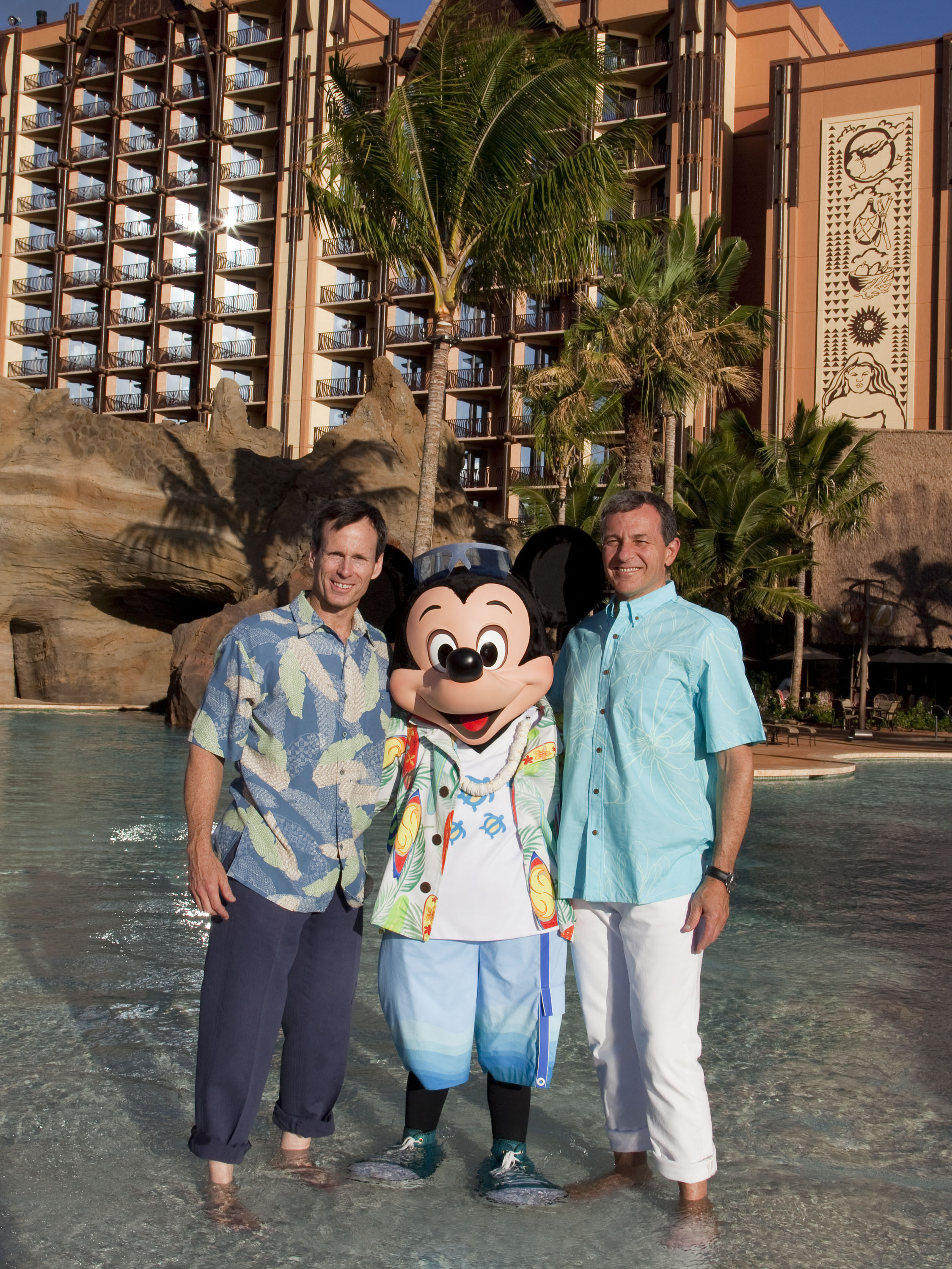 CEO Bob Iger, Walt Disney Parks And Resorts Chairman, Tom Staggs And Mickey Mouse Prepare For Grand Opening Celebration Of Alauni